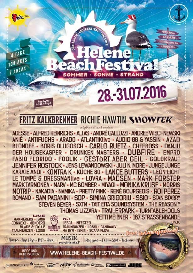 Helene Beach Plakat 2016